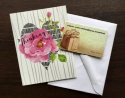 Shining Lotus Gift Card with small greeting card