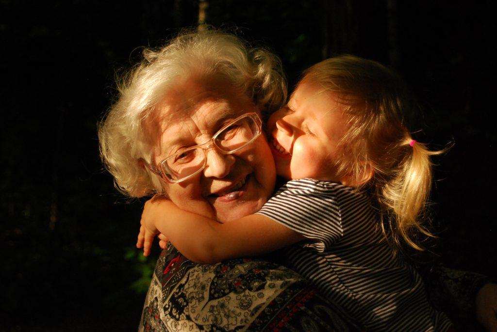 Hugging Nana